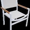 DA-50AC Dining chair with faux teak arm cap