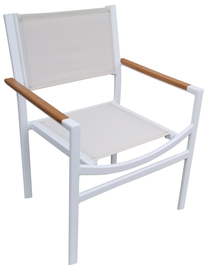 DA-50AC Dining chair with faux teak arm cap