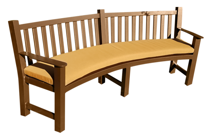 Curved Aluminum Bench