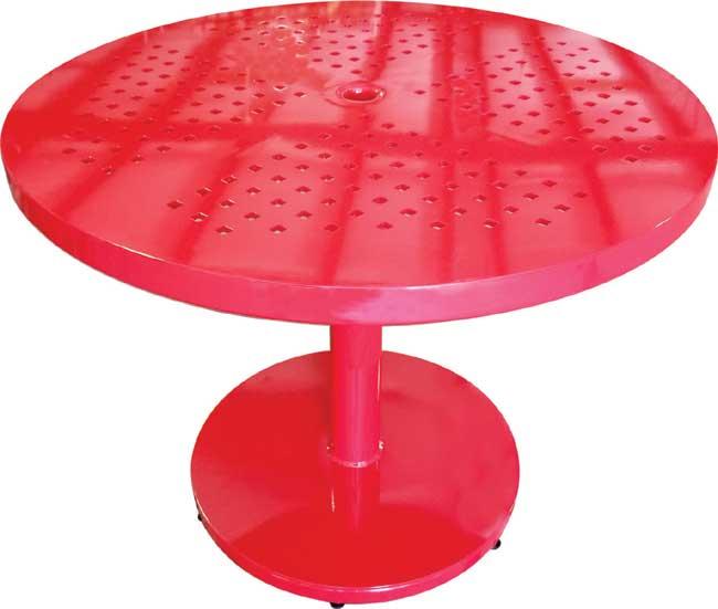 Cross Fire Pedestal Table