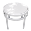 Regal Fiberglass Top Round Side Table 1