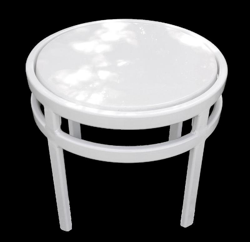Regal Fiberglass Top Round Side Table 1