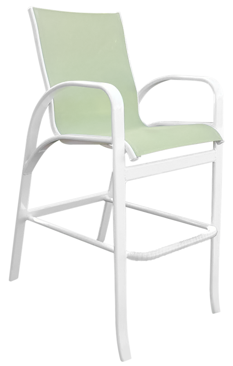 Garden Green Sling Bar Chair